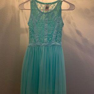 teal guess dress